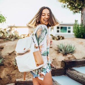 Humble Hilo White Laptop Backpack